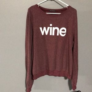 Wildfox Wine Burgundy Pullover sz L